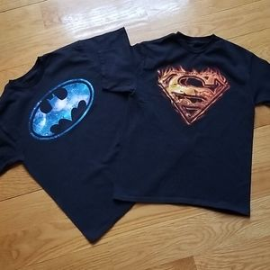 DC Comics boys t-shirts size S (2pc)